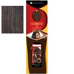 Goddess Remi Human Hair Piece - 3 WAY PART YAKI CLOSURE 10'~12' (4 - LIGHT BROWN)