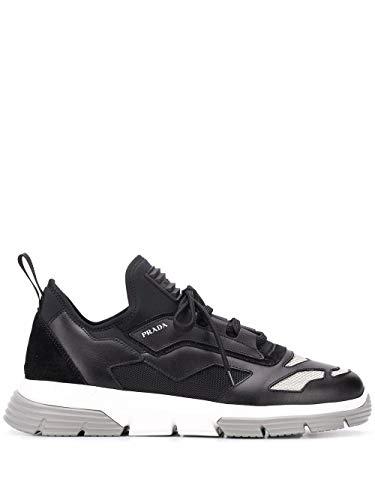 Prada Luxury Fashion Herren 4E3515DEPF0967 Schwarz Leder Sneakers | Frühling Sommer 20