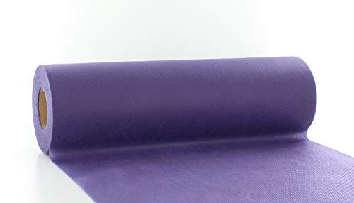 Vlies-Tischläufer Tischband VIOLETT-LILA 30cmx20m | abwaschbar | Tischdeckenrolle stoffähnlich | Hochzeit | Feier | Geburtstag | Party