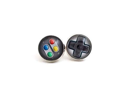 Joyas de videojuegos, regalos para los jugadores, pendientes para juegos, controlador, pendientes para videojuegos, mezclar pendientes, joyas para adolescentes, pendientes