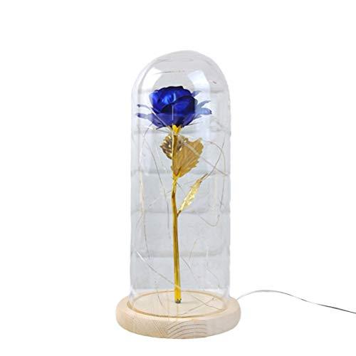 LEDMOMO Feuille d'or Rose verre étoiles féeriques décoration de la maison décoration légère (bleu royal)
