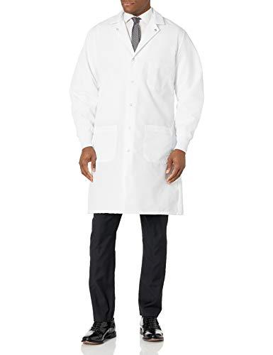 Red Kap Men's Exterior Pocket Lab Coat, White, X-Large