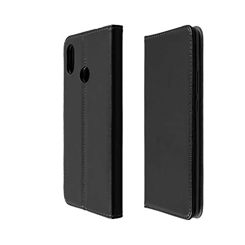 Baluum Hülle Kunstleder Bookstyle kompatibel mit Xiaomi Mi Max 3 Schwarz Lederhülle Book-Hülle mit Standfunktion & Kartenfächer