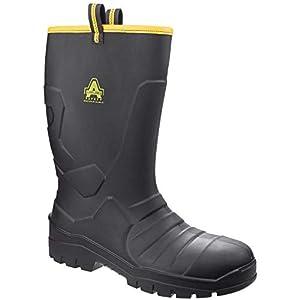 Amblers - Botas de Agua de Trabajo AS1008 Seguridad Total Unisex (38 EU) (Negro)