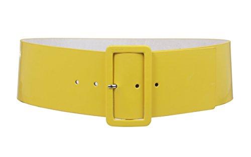 Cinturón amarillo de cintura alta para mujeres