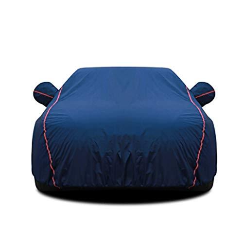 Gaoye Autoabdeckung,Sonnenschutz/Regen/Schnee/Staub/Kratzer Und Schmutz,autoabdeckung Kleinwagen,Reißverschluss An Der Fahrertür (Color : Blue, Size : 3XL+)