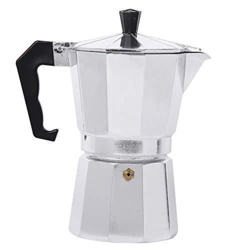 Lurrose Moka Express Stovetop Coffee Maker Aluminium Coffee Maker Stove top Coffee Maker Italian Espresso Coffee Maker (1Cup, 50ML)