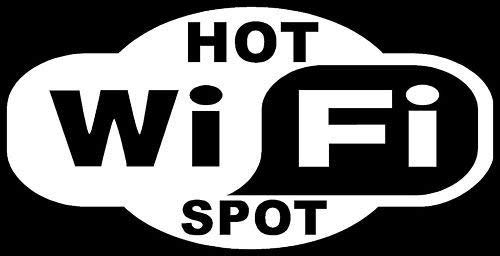 Ranger Products WiFi HOT SPOT Sticker Business Window Wireless Wall Car - Die Cut Vinyl Decal for Windows, Cars, Trucks, Tool Boxes, laptops, MacBook - virtually Any Hard, Smooth Surface