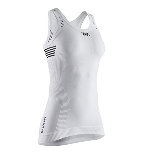 X-Bionic Invent Light Singlet T-Shirt, Mujer, Arctic White/Dolomite Grey, M
