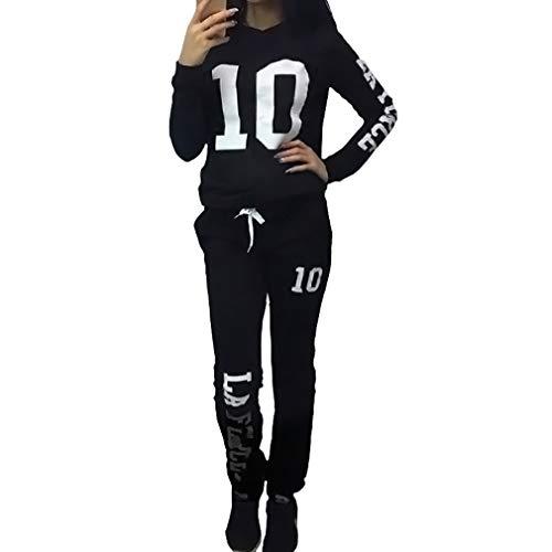 Mujer Chandal Ropa Deportiva Suave y cómodo Pantalones Jersey Manga Larga Juego...