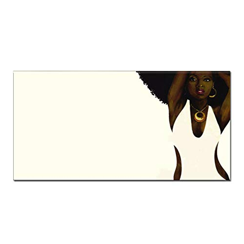 N / A Artistic Afro Black Abstract Portrait Black Woman On Canvas Print Poster Canvas Painting On Living Room Wall Frameless 30x60cm