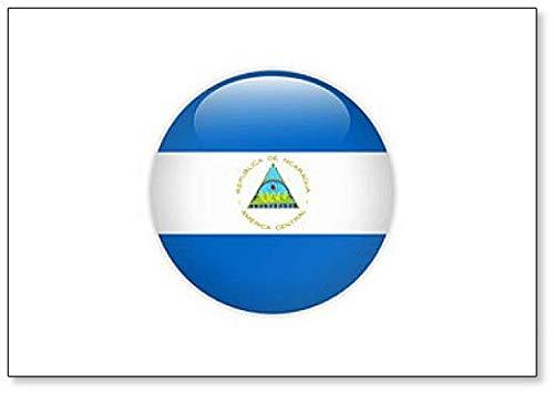 Nicaragua-Flagge auf Knopf, klassischer Kühlschrankmagnet