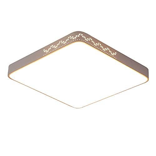 SHUANGZ Lámpara De Techo LED Luz del Panel Luz De Tres Tonos Ultrafino 1,9 Pulgadas Instalación Integrada Accesorio De Iluminación Fácil De Instalar Minimalista Moderno Cuadrado Creativo Cálido