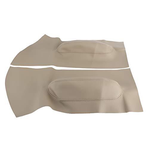 Adesivo copertura bracciolo per pannelli porta professionali in microfibra per parti di ricambio per Maggiolino 1998-2010(Beige)