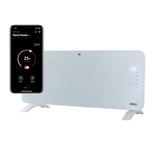Princess Termoconvettore Vetro Smart 342001 - Controllo con App - 2000 W – Bianco