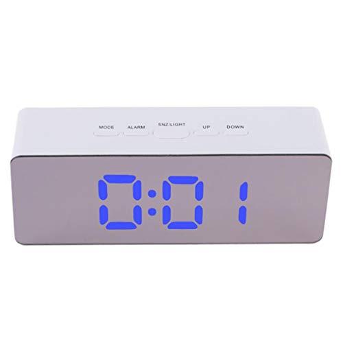 PRETTYEST Digitaler Wecker Einfach zu bedienenender Wecker mit großem Nachtlicht Temperatur Zeit und Datum Display Schlummerfunktion 24-Stunden Format