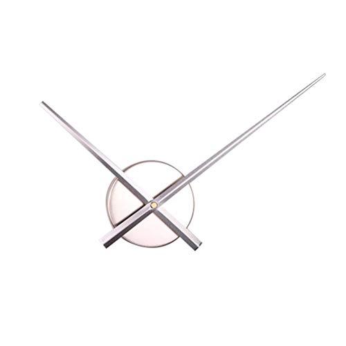 VOSAREA Bricolaje Punto de Cruz Reloj Agujas Relojes de Pared 3D Home Art Decor Reloj de Cuarzo Mecanismo Accesorios (sin batería) Plata