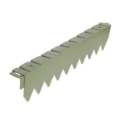 Bellissa Bordure Comfort 50 cm sans bord, en plastique, flexible, bordure de pelouse, limitation, Parterre de jardin monde Verrou Berger