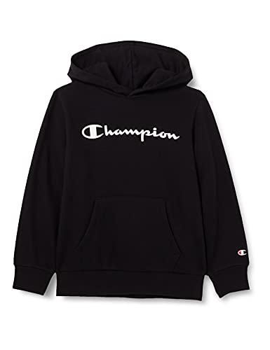 Champion Legacy Classic Logo Felpa con Cappuccio, Nero, 11-12 Anni Bambino