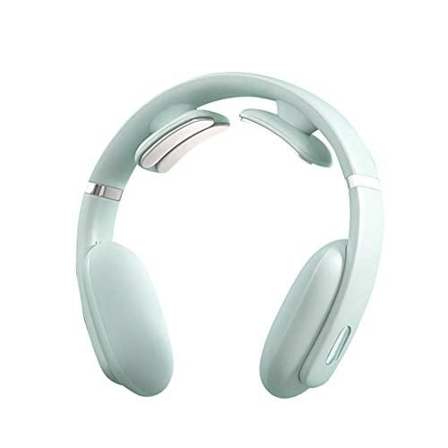 LYHD Masajeador Cervical, masajeador eléctrico para Cuello Inteligente, Fisioterapia electromagnética Profunda Multifuncional Masaje de Modos Alivia el Dolor para Uso doméstico en la Oficina,Azul