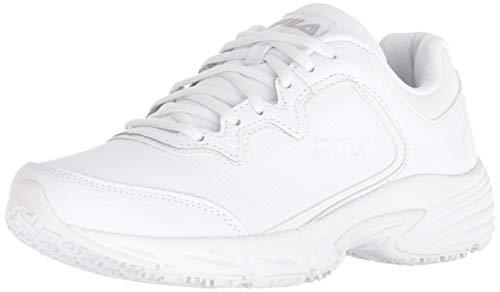 Fila Women's Memory Fresh Start 2 Slip Resistant Running Shoe Hiking, White, 8 B US