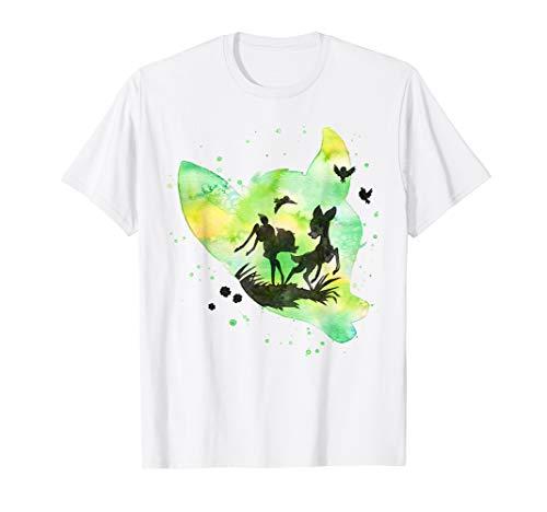Disney Bambi Friends & Birds Watercolor Silhouette T-Shirt