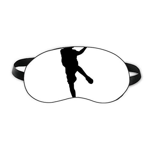 Capa para sombra noturna macia com proteção para os olhos do jogador de basquete, esportes pulando basquete