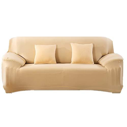 HAODEE Cubre Sofa Protector De Sofá MultifuncióN Que Se Adapta Perfectamente A Fundas De Sofá Fundas De Sofá De Color Puro Funda De CojíN De Sofá Duradera 145-185,Beige