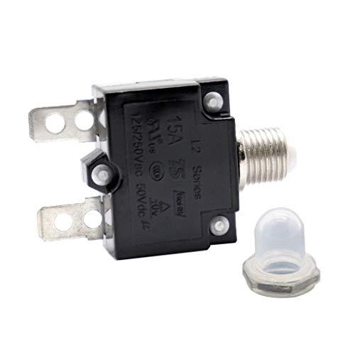 perfk 15A Kühlschrank Gefrierschrank Kompressor Überlastschutz Leistungsschalter + Wassefest Kappe