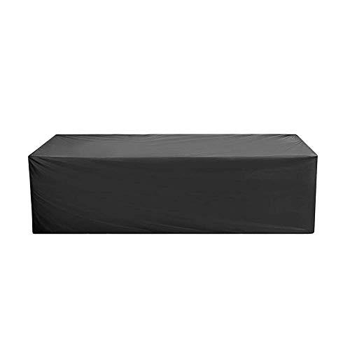 Anderlay Housse de Protection Bâche Housse Table de Jardin Imperméable Anti-poussière Antisolaire en Polyester Oxford pour des Meubles de Jardin Noir (325x208x58CM)