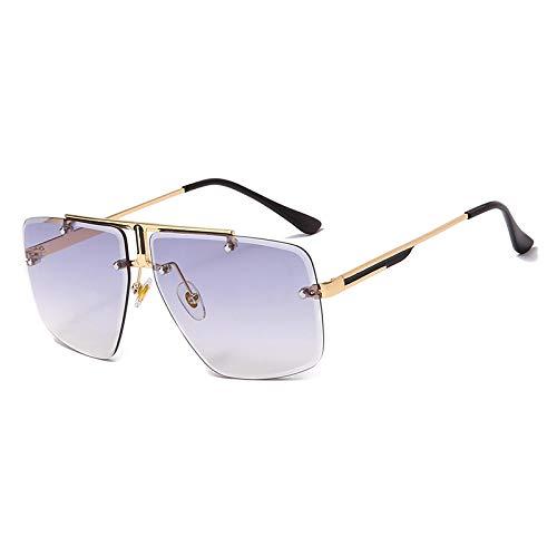 NJJX Gafas De Sol Sin Montura Para Hombre, Gafas De Sol Cuadradas Clásicas Para Hombre, Gafas De Sol De Lujo, Gafas 03