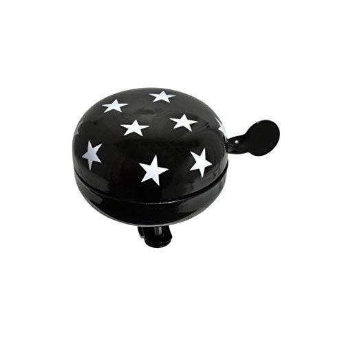 Büchel Nostalgiefahrradglocke Ding-Dong, 80mm Durchmesser, für Fahrrad/Hollandrad, schwarz mit Sternen, 43775813-1