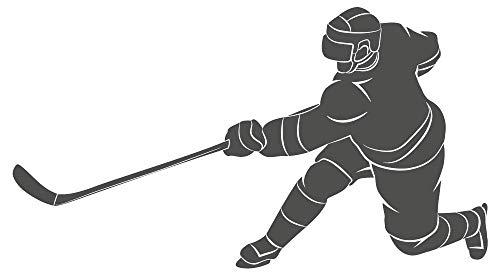 dekodino® Wandtattoo Eishockeyspieler Figur schwarz Jugendzimmer Sport Teenager