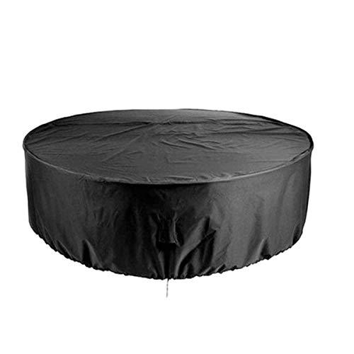 BWBG Cubierta para Muebles Redondas De Jardin 120 * 75cm, Impermeable Fundas para Mesas De Exterior Resistente Al Polvo Anti-UV Funda Protectora Muebles Terraza Resistentes Al Desgarro