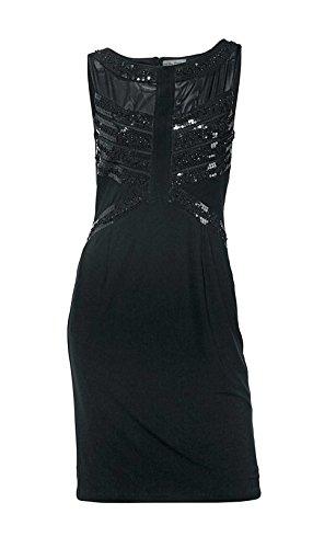 Ashley Brooke Damen-Kleid Kleid mit Pailletten Schwarz Größe 38