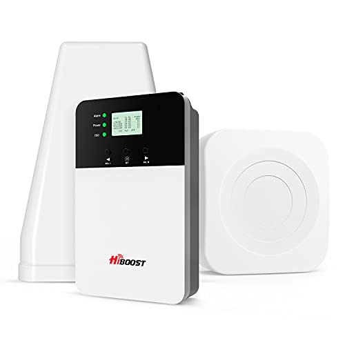 HiBoost Cell Phone Signal Booster for Home, 8,000 Sq. Ft with 2 Indoor Antennas, APP Fine Tune Best...