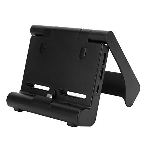 Agatige Muelle de Carga, Eje de la Base de la estación del Cargador de la Consola de Juegos HDMI Apto para el Interruptor