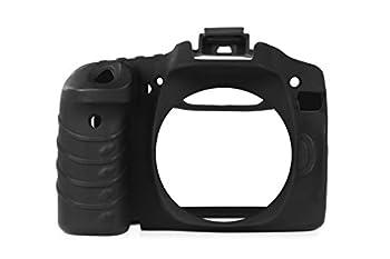 Camarm Silicone Protective Camera Body Case Cover for Canon 80D  Black