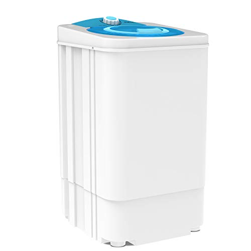 KUPPET Portable Mini Compact Spin Dryer For Laundry /1500 RPM 110V,17.6lbs Capacity,White&Bule(Can only be dried, not washed)