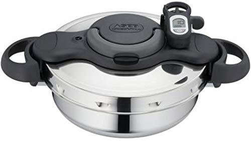 Seb - P4660516 - Autocuiseur Clipso Minut' Duo Gourmet 3 L Inox Tous Feux Dont Induction + Minuteur + Livre de Recettes