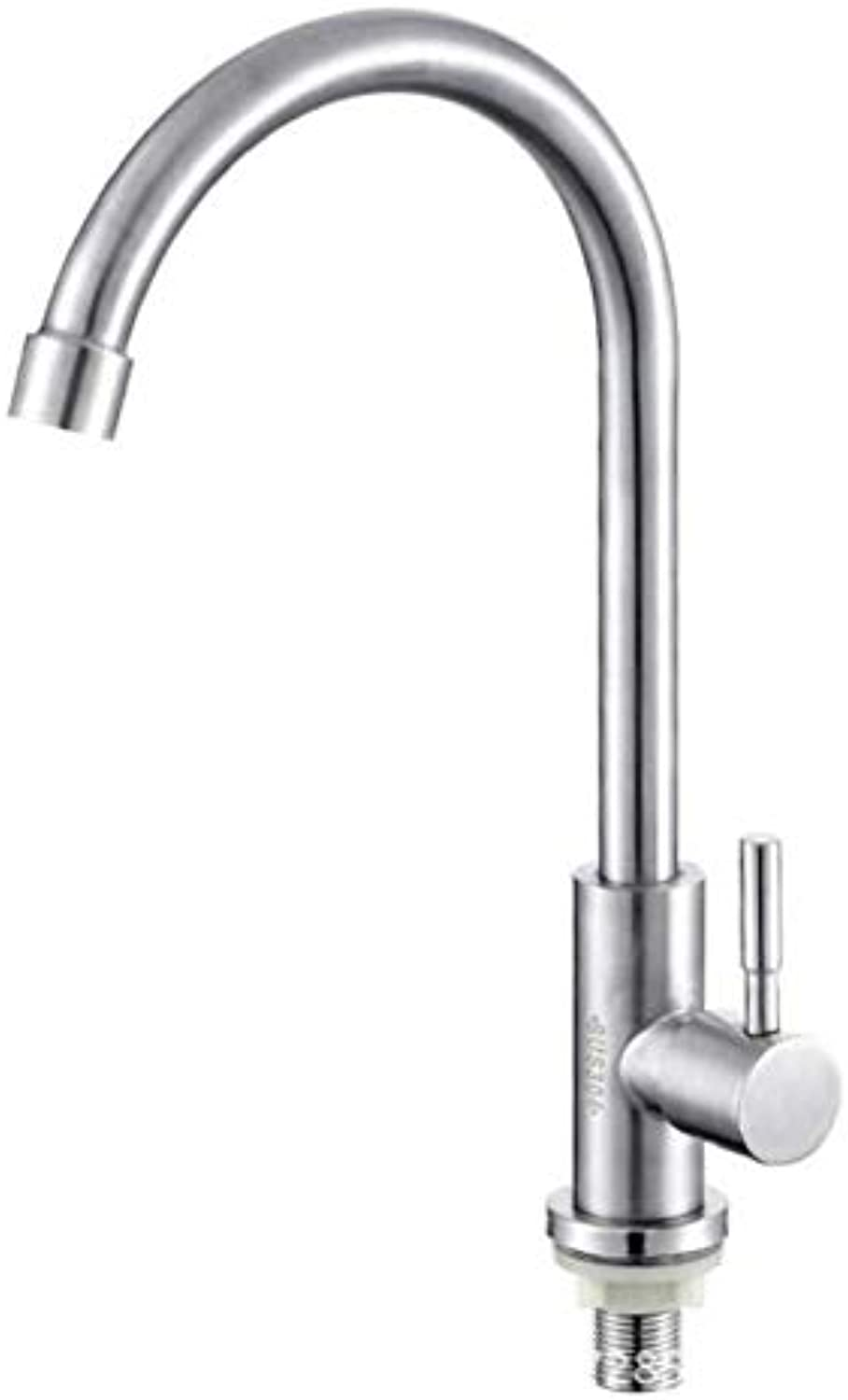 Modern Waterfall 304 Stainless Steel redating Tube Kitchen Faucet Sink Single Cold Sink Faucet