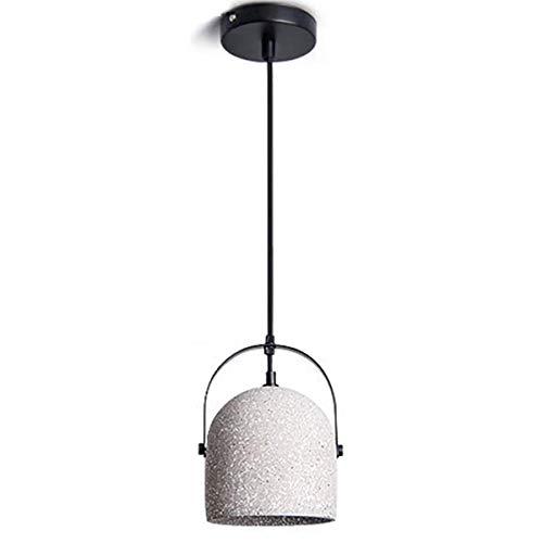 UWY Lampada a Sospensione, Illuminazione dell'isola della Cucina Antica in Cemento, Paralume Grigio Bianco, Lampada di Illuminazione Industriale per Illuminazione Decorativa della Cucina del Bar