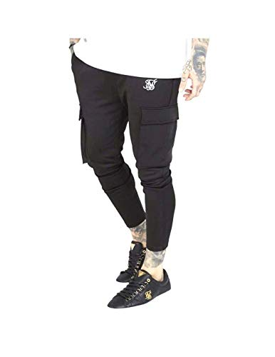 Sik Silk SS SS-15510 Poly Athlete Cargo Low Rise Jogger - Black