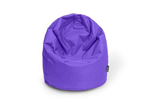 BuBiBag Sitzsack Birne Größe XL Füllmenge ca. 300L Indoor und Outdoor (lila)