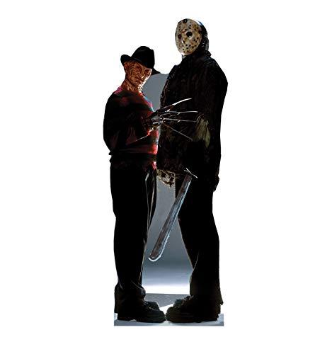 Figura de papelão com recorte em tamanho realista da Advanced Graphics - Sexta-feira 13, Freddy Vs. Jason, One Size, 1