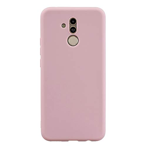 Capa Grandcase Mate 20 Lite, capa protetora ultrafina de silicone macio TPU fosco absorção de choque anti-queda para Huawei Mate 20 Lite 6,3 polegadas – Rosa