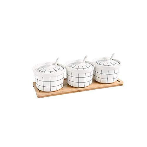 Forniture da Cucina Forniture da Cucina Forniture per Cucina Ceramica Contenitore Spice Barattolo, Scatola di condimento Salt Shaker Zucchero Ciotola con Coperchio