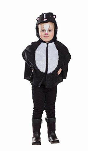 Kleiner Stinker Cape Stinktier Skunk Kostüm für Kinder Tierkostüm