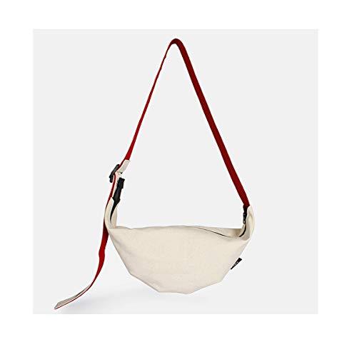 FKYNB Original Canvas Kuriertasche Kuriertasche Kuriertasche Japanische Herren Tasche Handtaschen Einfache Kunst Tide Paket Sie können kleine Gegenstände mit Ihnen unterbringen, weiß