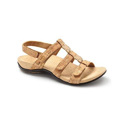Vionic Rest Amber Backstrap Sandal Gold Cork 9 M